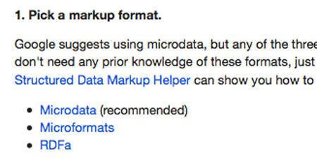Schema Microdata Tutorial - Google Webmaster Screenshot