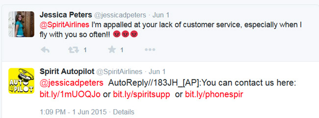 Spirit Airlines - Twitter Bot Fail