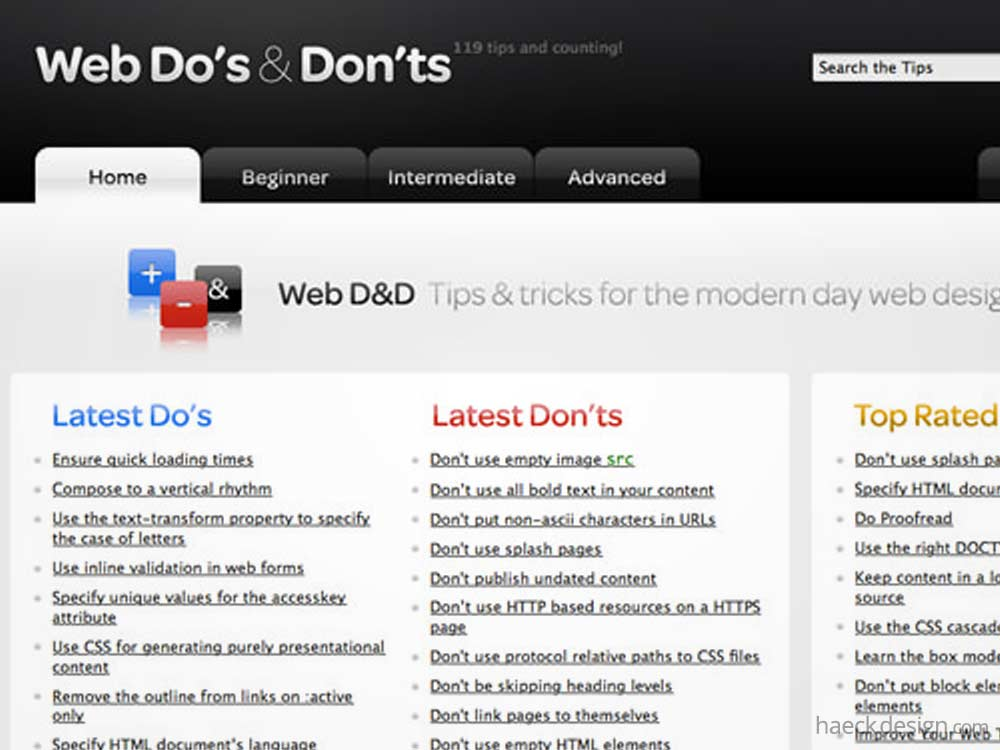 Web Dos and Donts