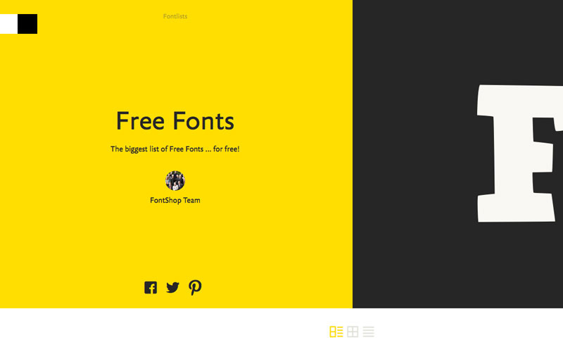 Fontshop | Free Font Libraries