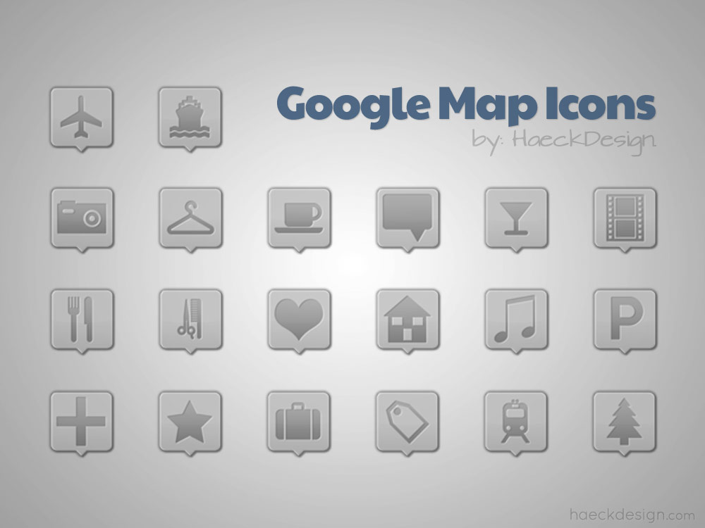 Clean Custom Google Maps Icons