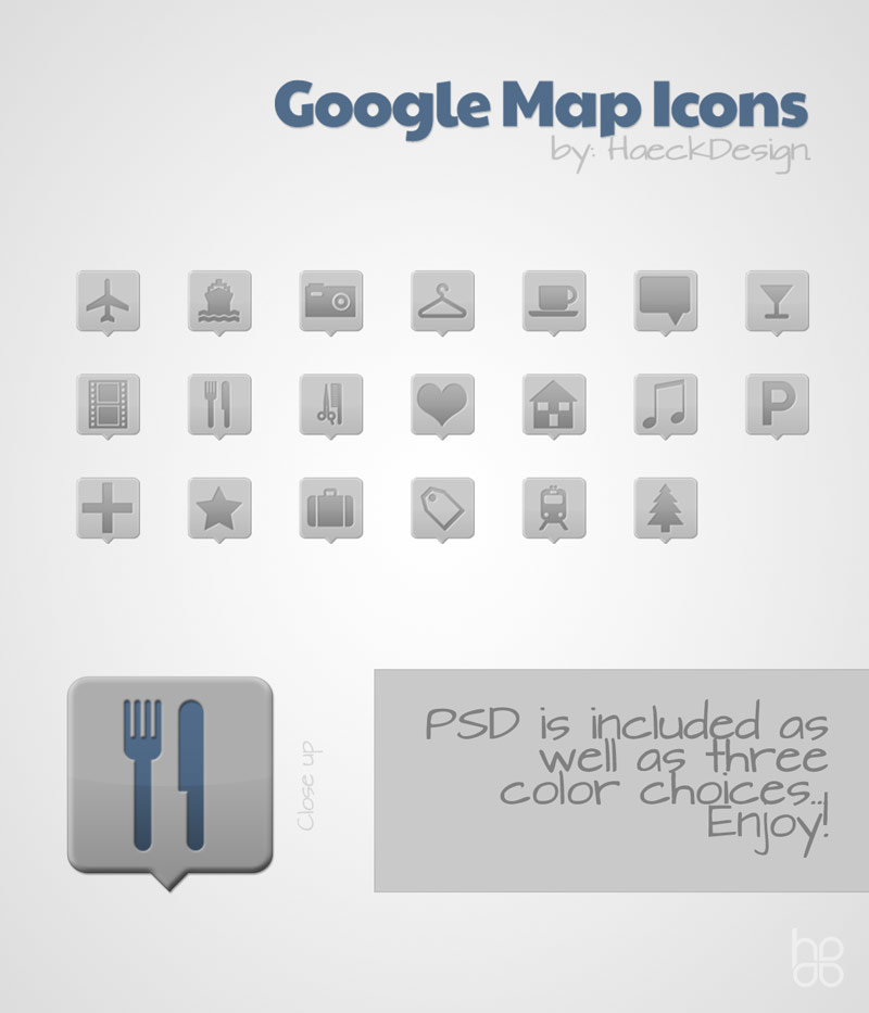 Google Maps Custom Icon Set