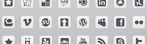 Infocus Simple White Icons - Best Social Media Icons