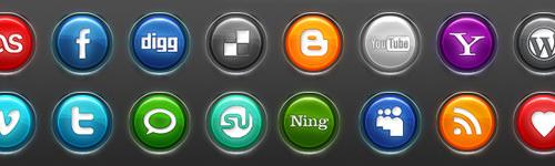 Neon Social Media Buttons - Best Social Media Icons