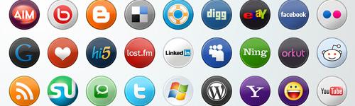 Simple Circular Pack - Best Social Media Icons