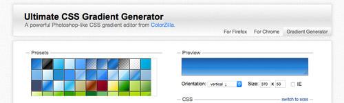 ColorZilla - Ultimate CSS Gradient Generator