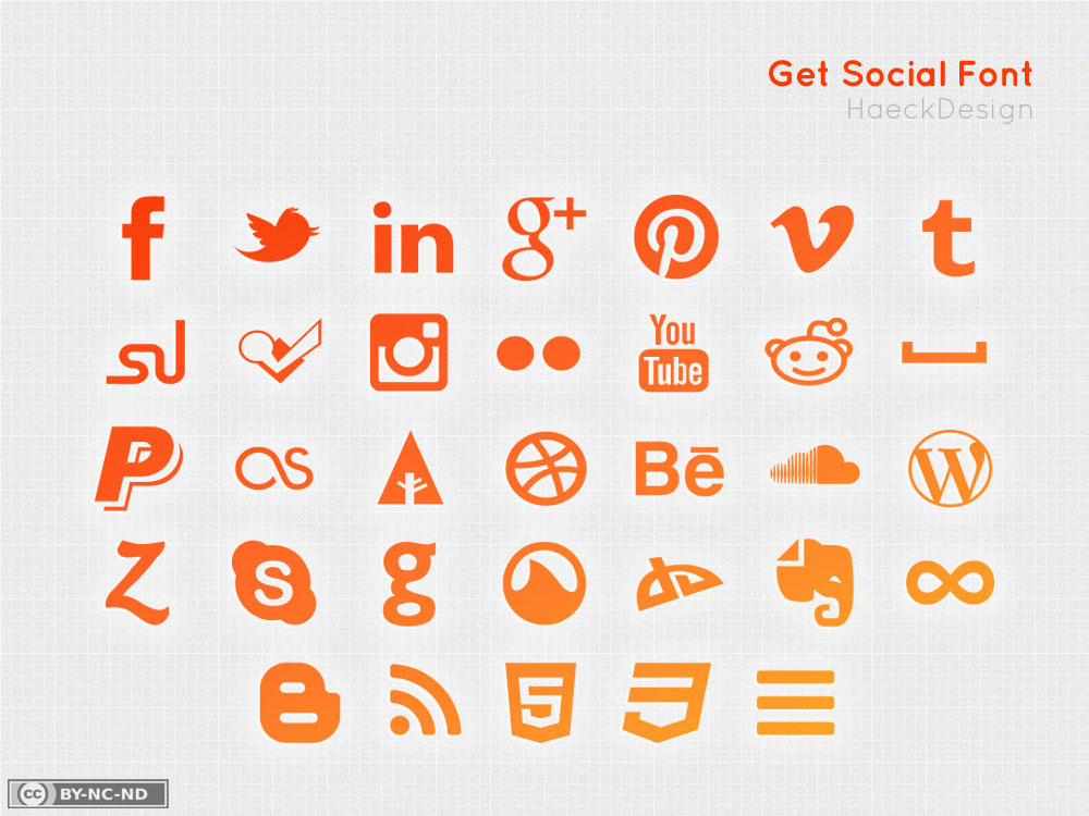 Get Social Icon Set / Social Media Font