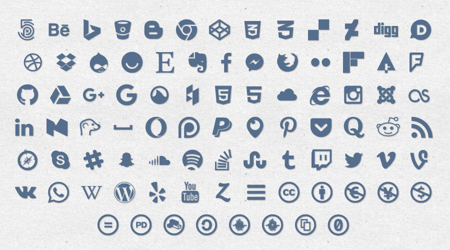 Get Social Icon Set - Sample