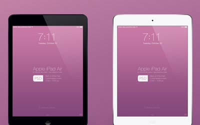 Apple iPad Air Mockup PSD