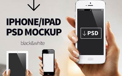 iPhone/iPad PSD Mockup - Tanya Suhodolska