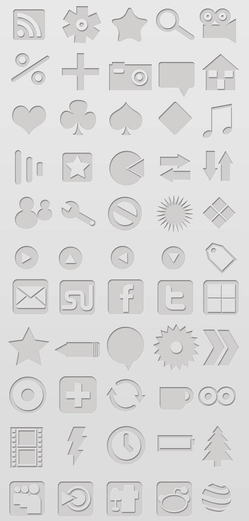 Letterpressed Icons - Download