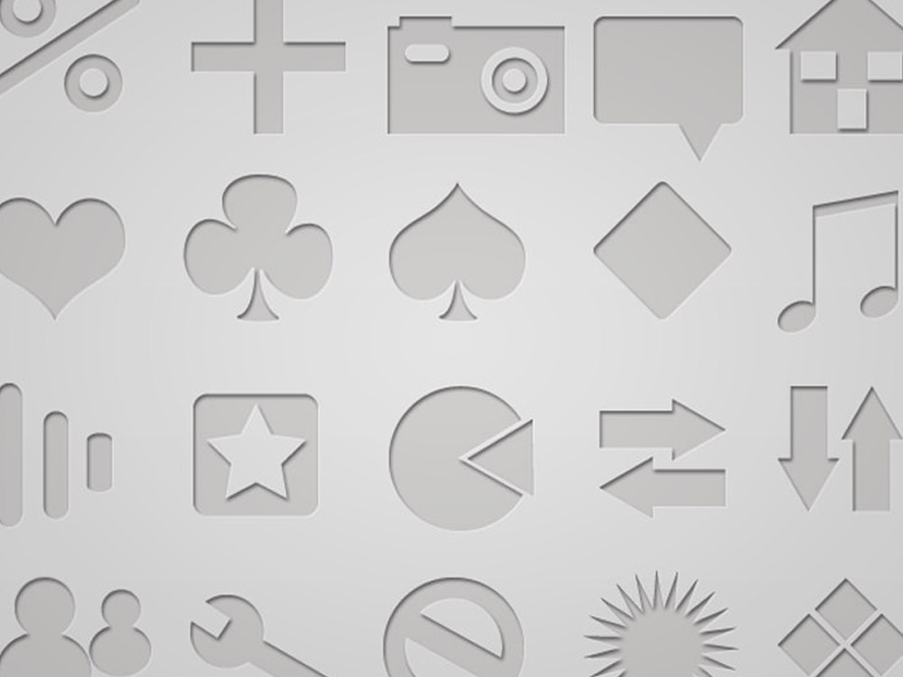 100 Letterpressed Icons & Embossed Icons