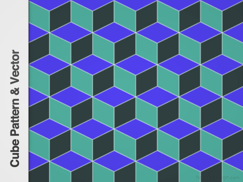 Cube Pattern - Repeatable Pattern & Vector