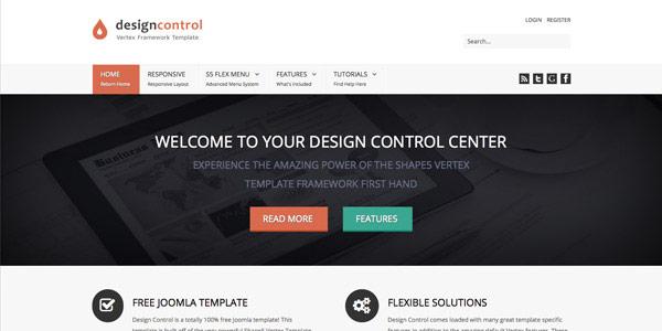 Design Control - Best Free Joomla Templates