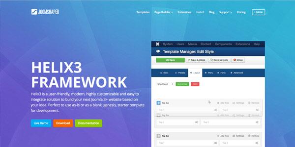 Helix Framework - Top Free Joomla Frameworks