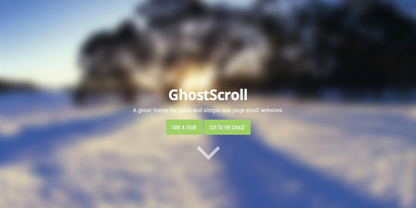 Ghost Scroll - Top Free Ghost Themes
