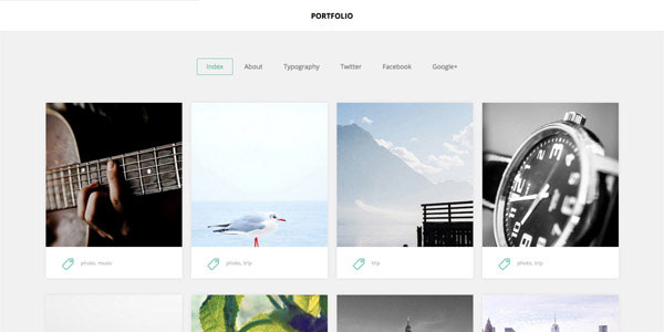 Portfolio - Top Free Ghost Themes