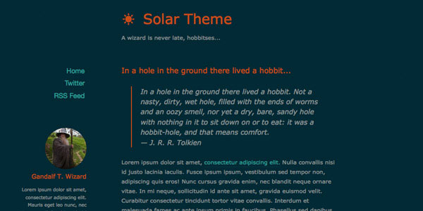 Solar - Top Free Ghost Themes
