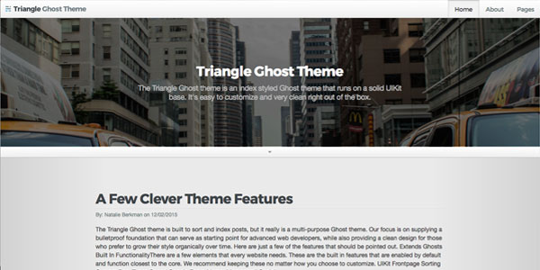 Triangle Ghost Theme - Top Free Ghost Themes