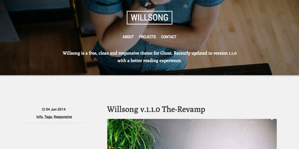 Willsong - Top Free Ghost Themes