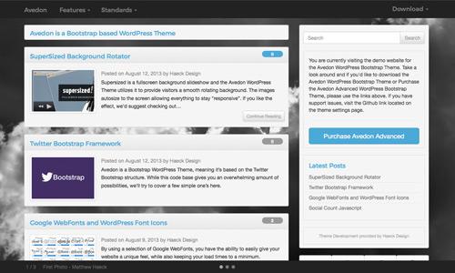 Avedon Wordpress Bootstrap Theme