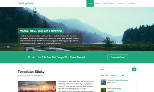 Dazzling Wordpress Theme