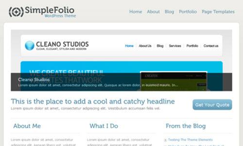 Simplefolio Wordpress Theme