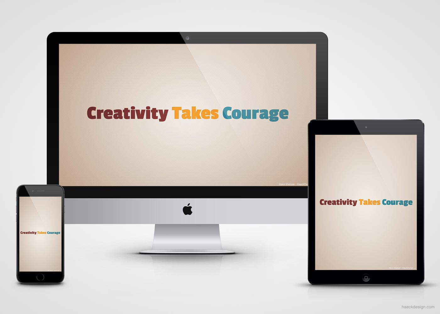 Creativity Takes Courage Wallpaper