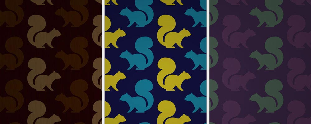 Variations of Squirrel Pattern Wallpaper