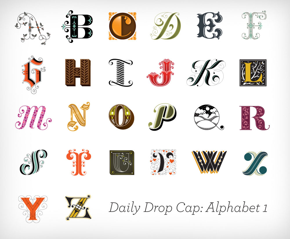 Daily Dropcap - Alphabet 1