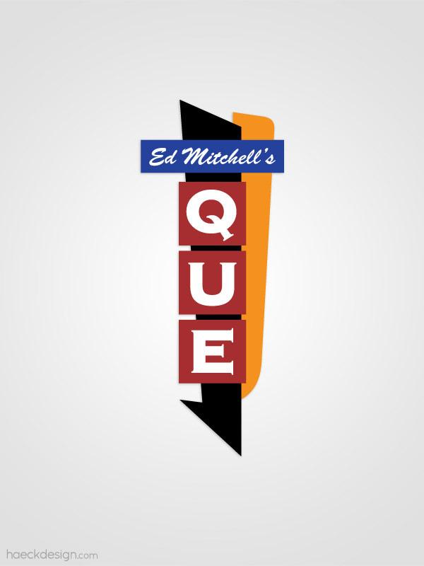 Ed Mitchells Que - Durham, NC | Logo Design