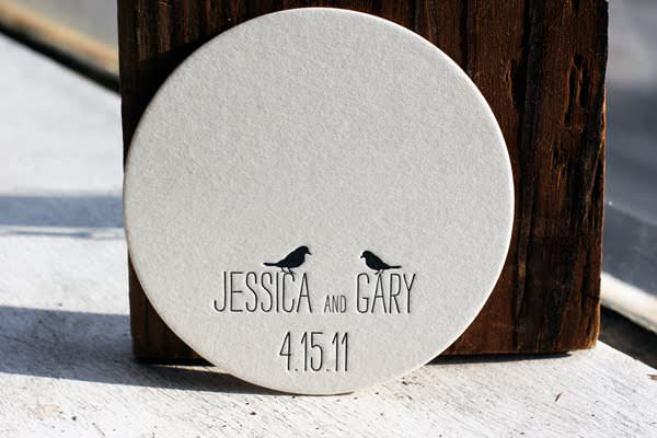 Jess & Gary Coasters - Raleigh, NC | Merch and Product Design