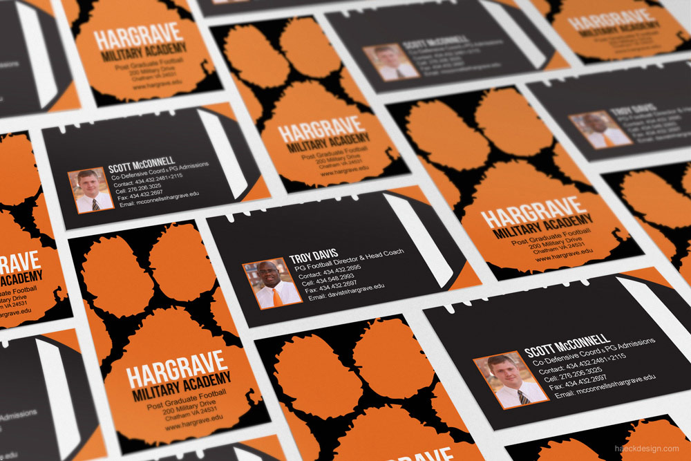 Hargrave Military Academy Business Cards - Chatham, VA | Print Design