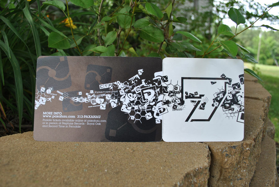Paxahau Flyer - Detroit, MI | Print Design