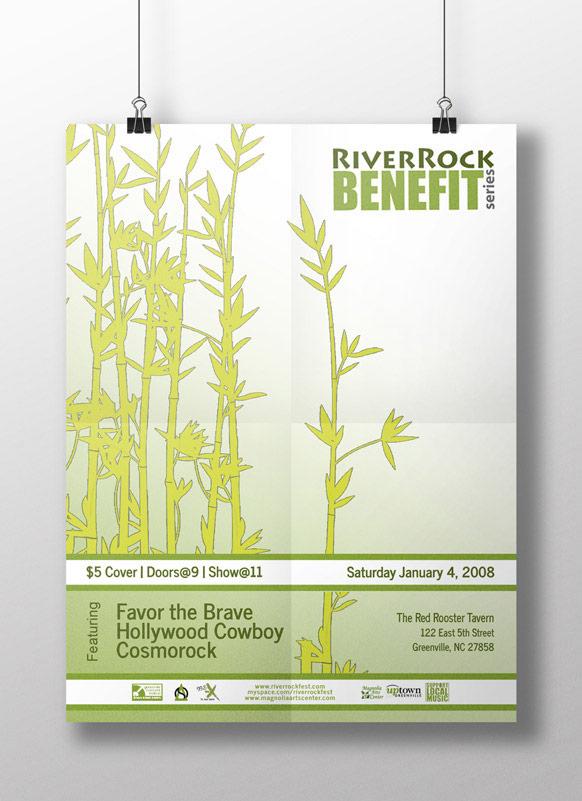 River Rock Benefit Poster - Greenville, NC | Print Design