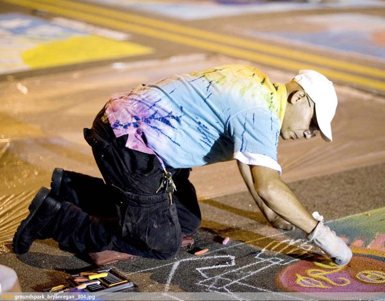SPARKcon - Street Chalk Artist