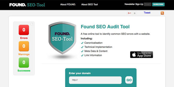 Found - Free SEO Page Rank Tool