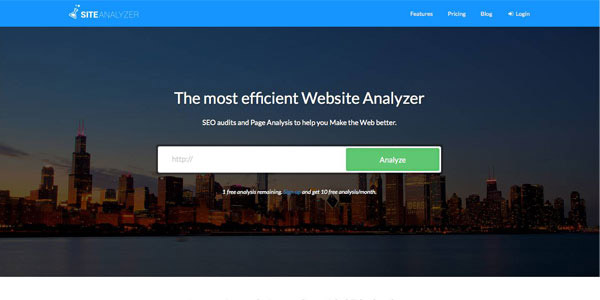 Site Analyzer - Free SEO Page Rank Checker