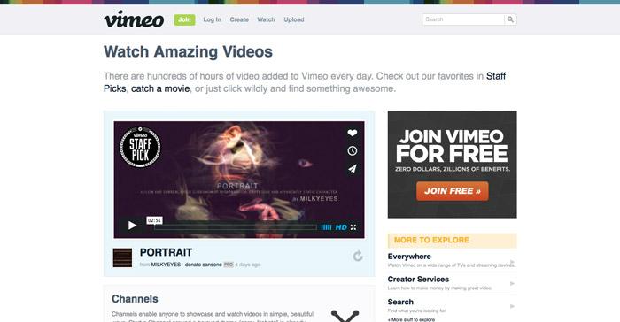 Vimeo Screenshot - Vimeo vs Youtube
