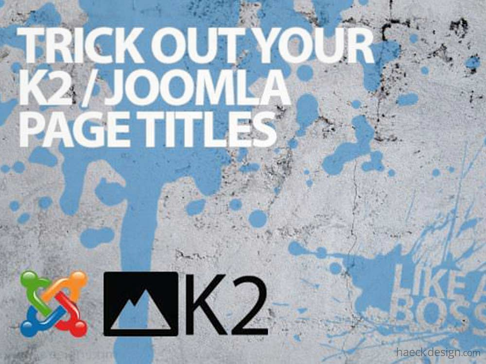 Categorize K2 Articles on Joomla!