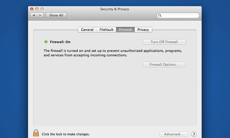 Enable Firewall - Apple Internet Security